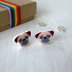 Gifts for a Dog Owner - Pug Earrings