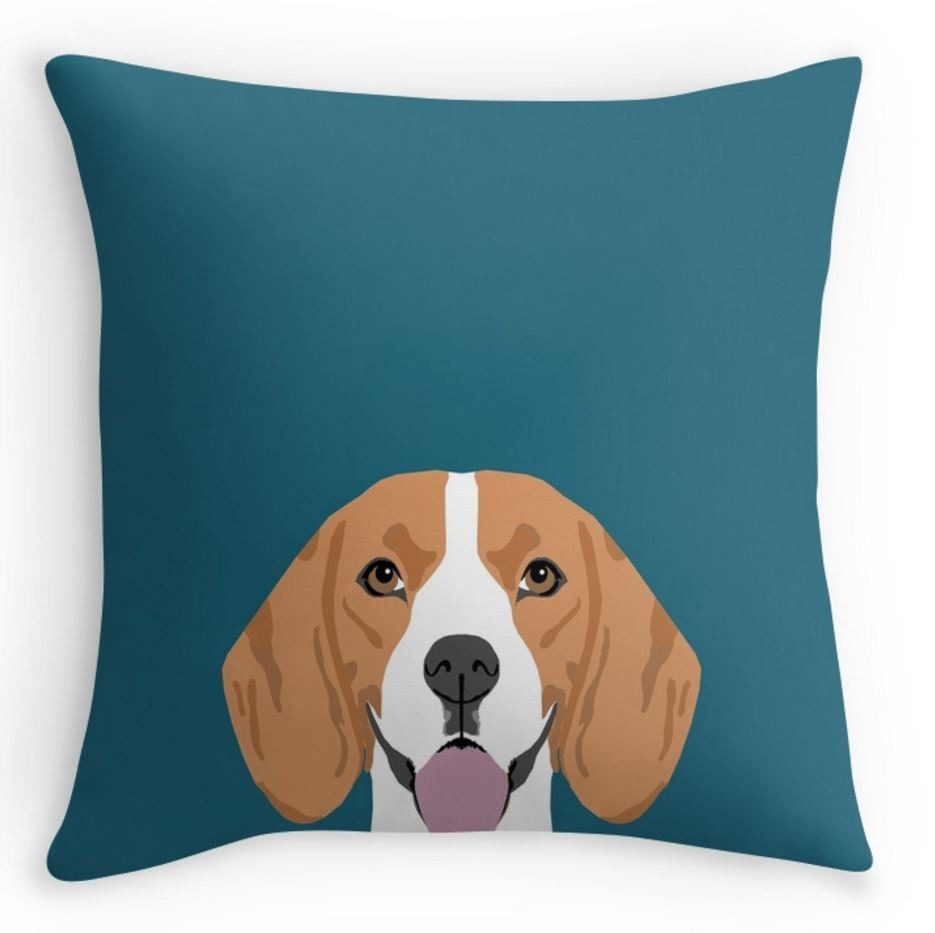 Gifts for Dog Lovers - Beagle Cushion Throw