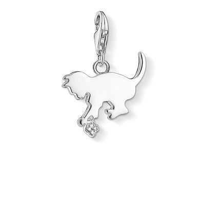 Gifts for a cat lover sterling silver kitten charm