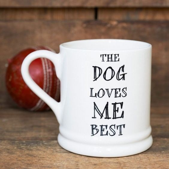 Gifts for Dog owners - The dog loves me best mug
