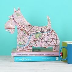 Gifts for a Dog Owner - Scottie Dog Map