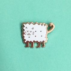 Gifts for a cat lover - cat enamel pin NIcki Mcwilliams
