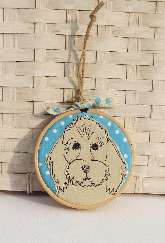 Gifts for a Dog Owner - Cockapoo Hoop art