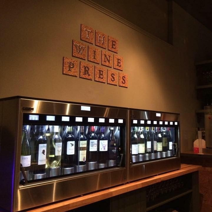 dog-friendly bar in dundee The Wine Press Enomatic Wine Machine