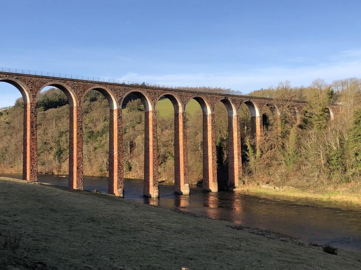 Leaderfoot Viaduct Dog Friendly Holiday in the Scottish Borders: Holiday Cottages Melrose (Reviewed)