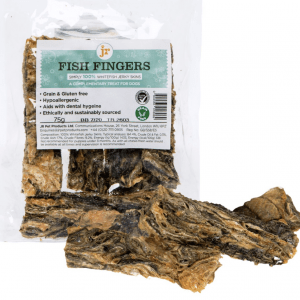 Fish Fingers 100% Whitefish Jerky Skins Dog Treats