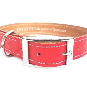 red-leather-collar-ditsy-dog-buckle