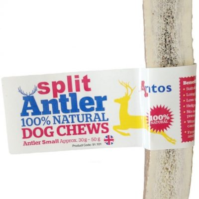 Antos: Split Antler 100% Natural Dog Chew (Various Sizes)