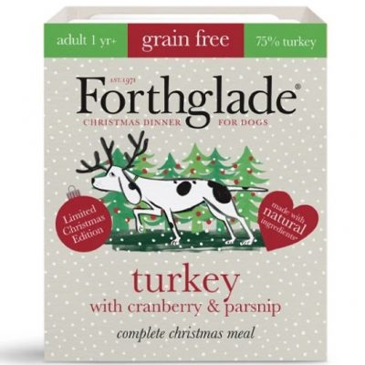 Forthglade: Christmas Dinner Turkey with cranberry & parsnip natural wet dog food (395g)