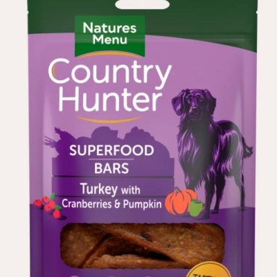 Natures Menu: Country Hunter Superfood Bars (Turkey with Cranberries & Pumpkin)