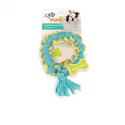 all-for-paws-ring-mulit-chew-sweater-rope-puppy-toy-gift
