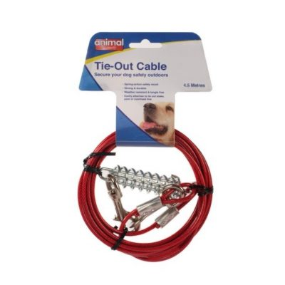 AI Tie Out Cable With Spring