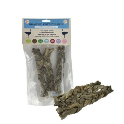JR Pet Products: Braided Ostrich Skin