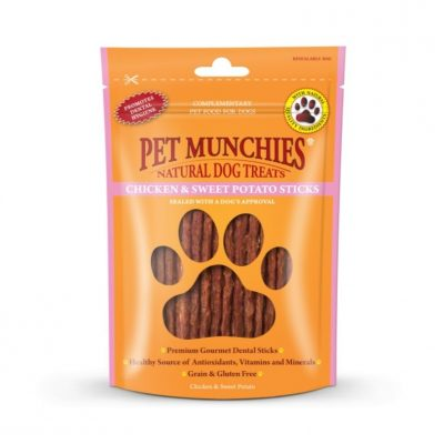 Pet Munchies: Chicken & Sweet Potato Sticks (90g)