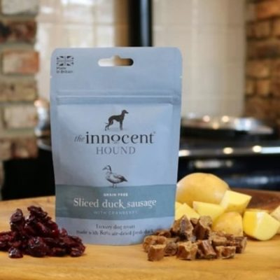 The Innocent Hound: Sliced Duck Sausage With Cranberry