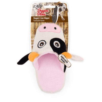 all-for-paws-cow-slipper-dog-toy