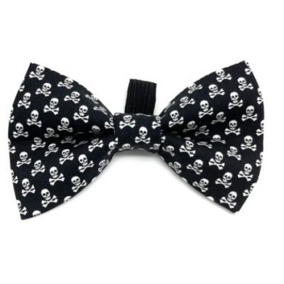Ditsy Pet: Skull And Crossbone Dickie Bow